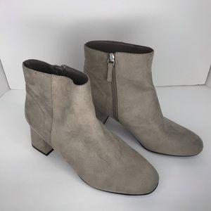 Abound | Dorin Faux Suede Block Heel Grey Booties